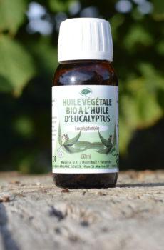 Huile végétale bio à l'eucalyptus Accueil des sens Maryse Brunet